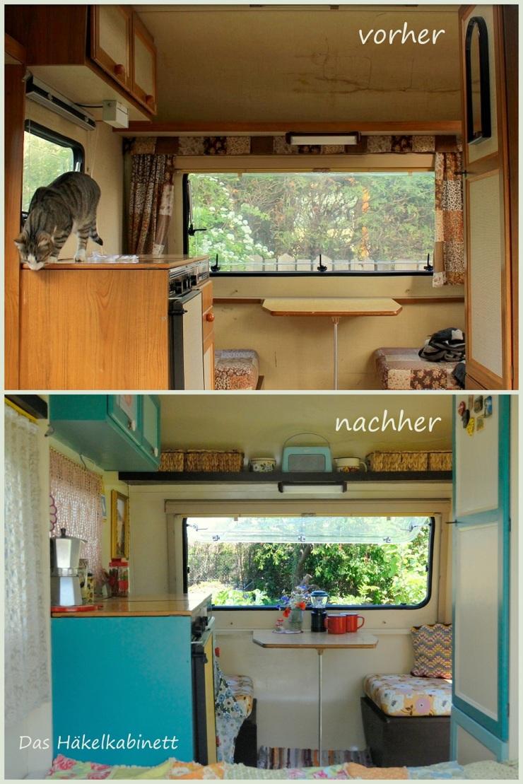 Wohnwagen vorher - nachher