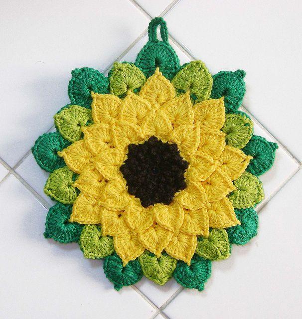 Gehäkelte Sonnenblume Das Häkelkabinett