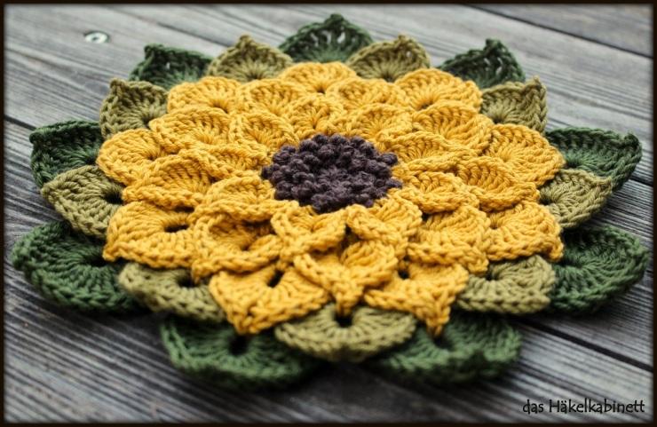 gehäkelte Sonnenblume