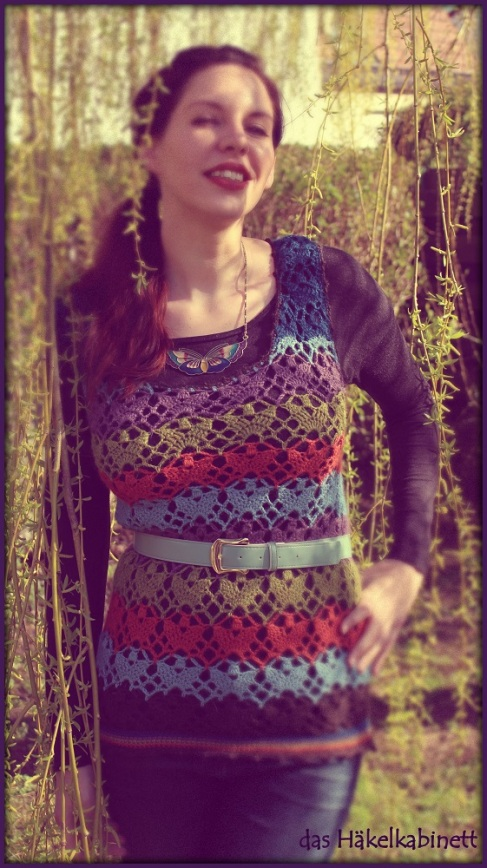 Painted Wool Vest 2