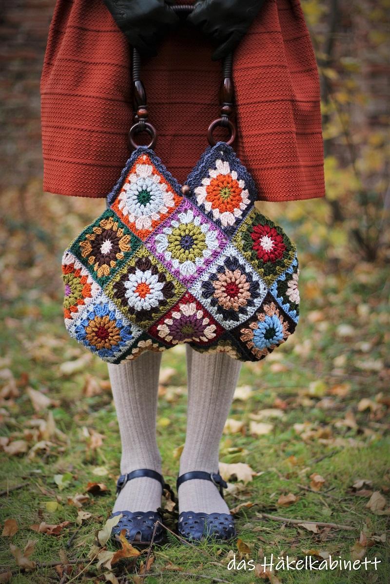 gehäkelte Tasche - Granny Squares