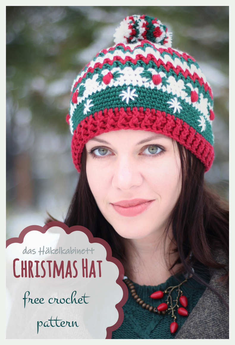Christmas hat - Weihnachtsmütze gratis Häkelanleitung