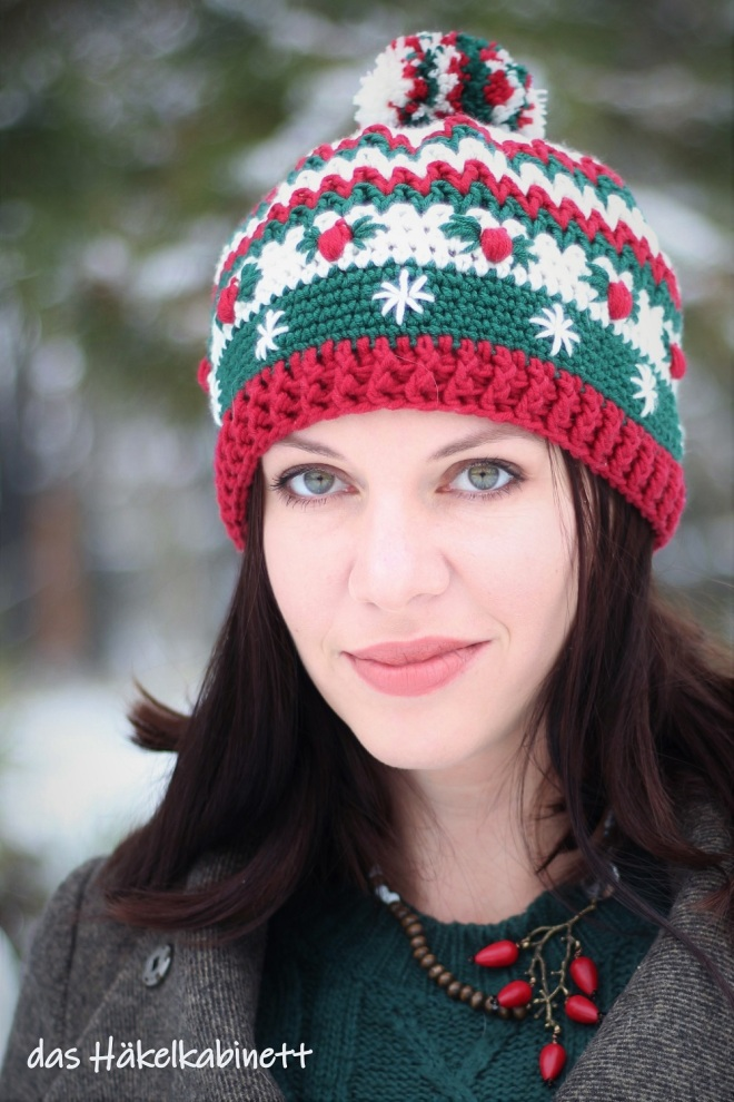 gehäkelte Weihnachtsmütze